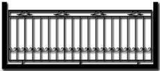Ограждение балкона БГМ1
