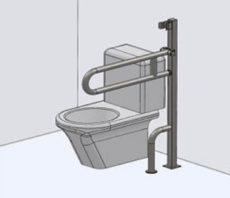 Опорный поручень для туалета на стойке