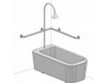 Угловой поручень для душа и ванной