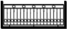 Ограждение балкона БГМ6