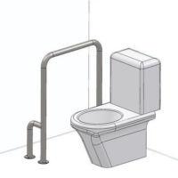 Поручень для туалета и ванной. Левый