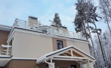 Нержавеющие ограждения крыши и балконов