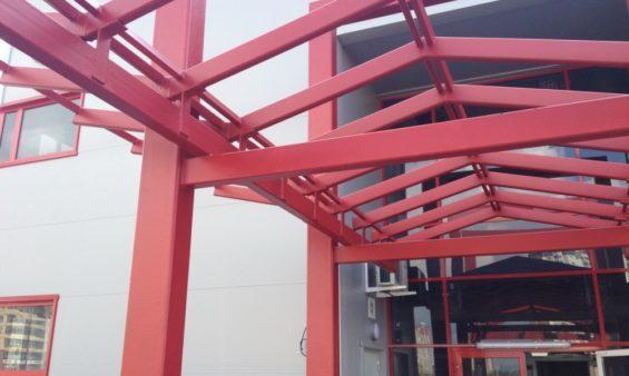 Изготовление и установка металлического навеса