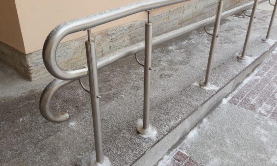 Поручни для инвалидов из нержавеющей стали