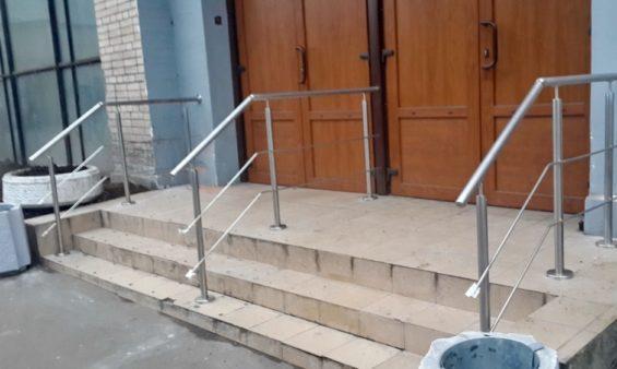 Нержавеющие ограждения лестницы — производство и установка